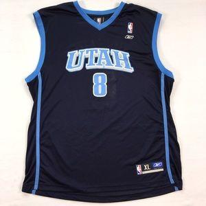 b05fda95e45f Williams Reebok NBA Jersey Utah Jazz  8 Men s XL